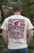Central Michigan Chippewas Flying C Ivory Comfort Colors T-Shirt With Back Graphic