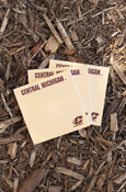 Set Of Three Central Michigan Sticky Note Pads