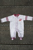 Flying C Gray Sports Footed Onesie