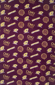Central Michigan Cotton Fabric - 1 Yard
