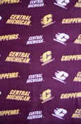Central Michigan Fleece Fabric - 1 Yard