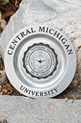 Central Michigan University Seal Pewter Plate