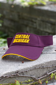 Central Michigan Maroon Visor With Chippewas On Back