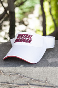 Central Michigan White Visor With Chippewas On Back