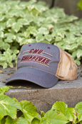 Cmu Chippewas Line Gray Hat With Mesh Back