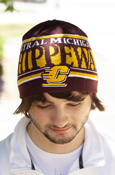 Adidas Central Michigan Flying C Stacked Beanie