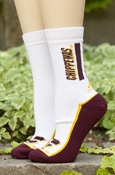 Adidas Men's Chippewas Three Stripe White Socks
