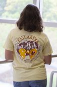 Chippewas Flying C Soft Yellow T-Shirt With Back Graohic