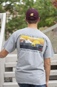 Flying C Central Michigan Gray T-Shirt With Back Campus Graphic