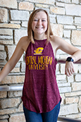 Flying C Ladies Maroon Tank Top