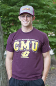 Central Michigan University Cmu Flying C Maroon T-Shirt