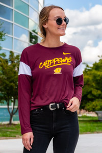 Chippewas Maroon Breathe Women's Long Sleeve T-Shirt<br><small>NIKE</small>