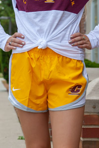 Nike Tempo Gold Flying C Ladies Shorts