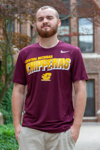 Central Michigan Chippewas Maroon Graphic T-Shirt<br><small>NIKE</small>
