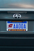 Central Michigan Metal License Plate Frame