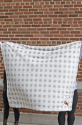 "50x60"" CMU Gray and White Checkerboard Sherpa Blanket"