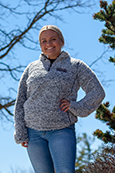 Central Michigan Frosted Charcoal Women's ¼ Zip Sherpa<br><small>MV SPORT</small>