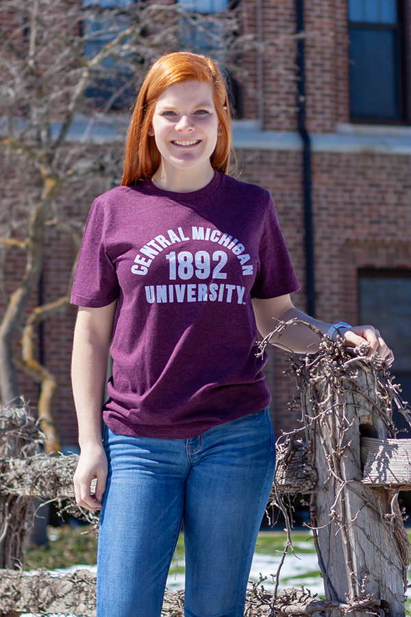 Central Michigan University 1892 Maroon T-Shirt<br><small>MV SPORT</small>