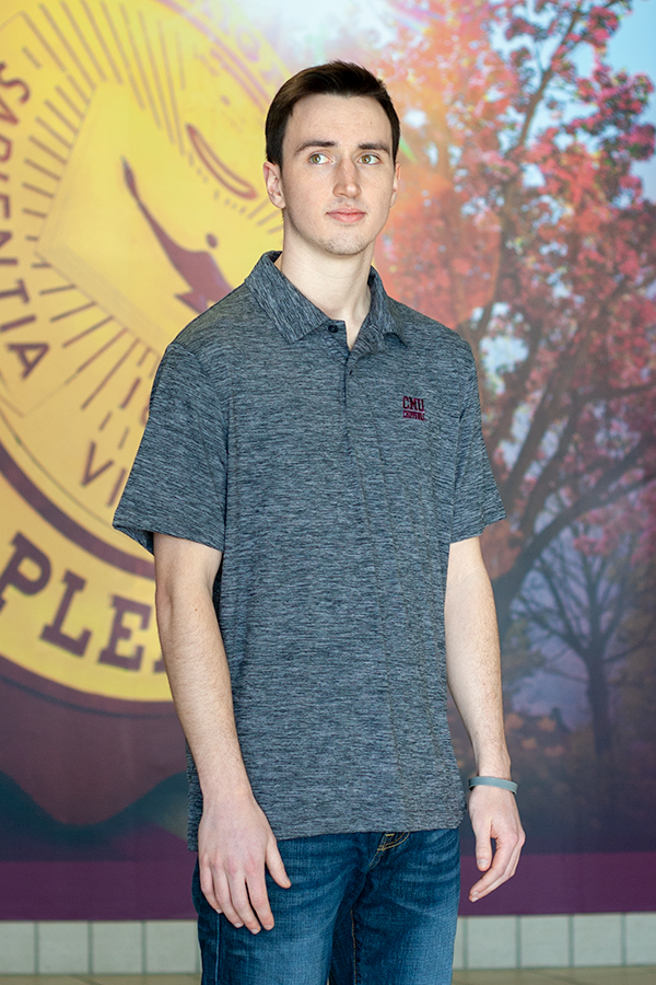 Cmu Chippewas Gray Polo Shirt (SKU 5041744524)