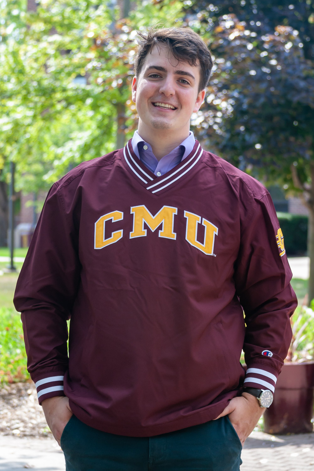 CMU Flying C Maroon Scout Pullover Jacket<br><small>CHAMPION</small> (SKU 5041773543)