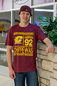 Central Michigan Graphic Maroon Tee