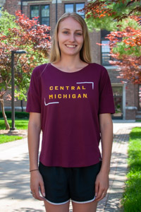 Under Armour Ladies Maroon Central Michigan Crop Top