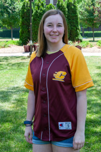 Flying C Maroon & Gold Baseball Jersey<br><small>CHAMPION</small>