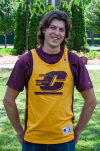 Flying C Maroon & Gold Basketball Jersey<br><small>CHAMPION</small>
