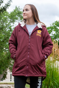 Champion Maroon Flying C Ladies Stadium Jacket