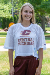Flying C Central Michigan White Crop Mesh Football Jersey<br><small>CHAMPION</small>