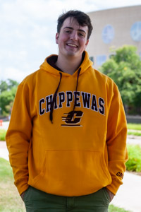 Gold Chippewas Flying C Hooded Sweatshirt