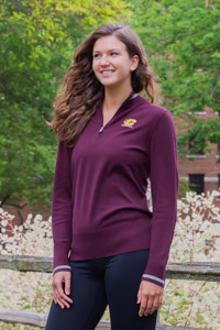 Cutter & Buck Maroon Ladies 1/4 Zip Sweater