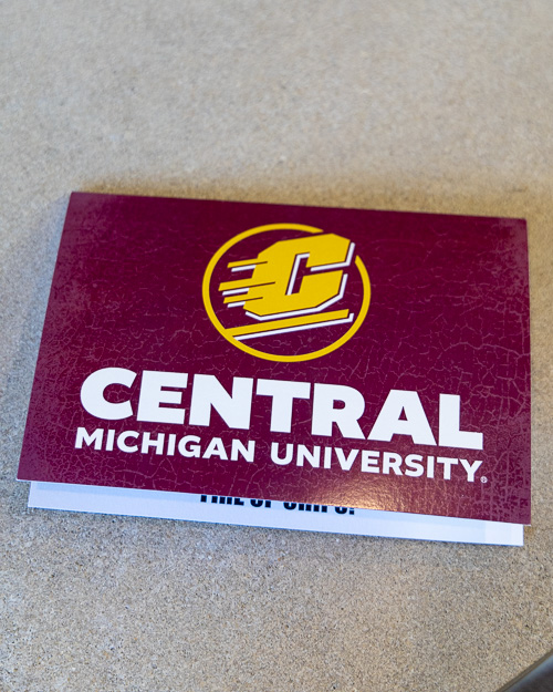 Flying C Central Michigan University Greeting Card