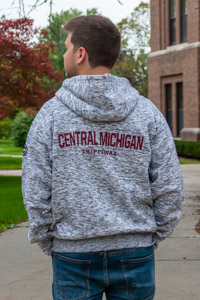 Central Michigan Chippewas Salt & Pepper Full Zip Hoodie<br><small>FRANCHISE CLUB</small>
