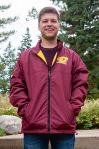 Flying C Maroon & Gold Terrain Reversible Jacket<br><small>FRANCHISE CLUB</small>