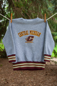 Gray Central Michigan Flying C Kids Sweatshirt