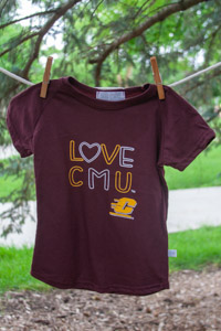 Maroon Love CMU Girls T-shirt