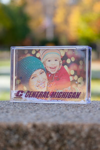 Central Michigan Clear Snowflake Picture Frame