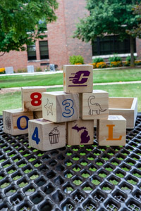 Fire Up Chips! Wooden Block Set