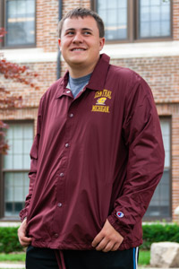 Champion Maroon Central Michigan Coaches Jacket