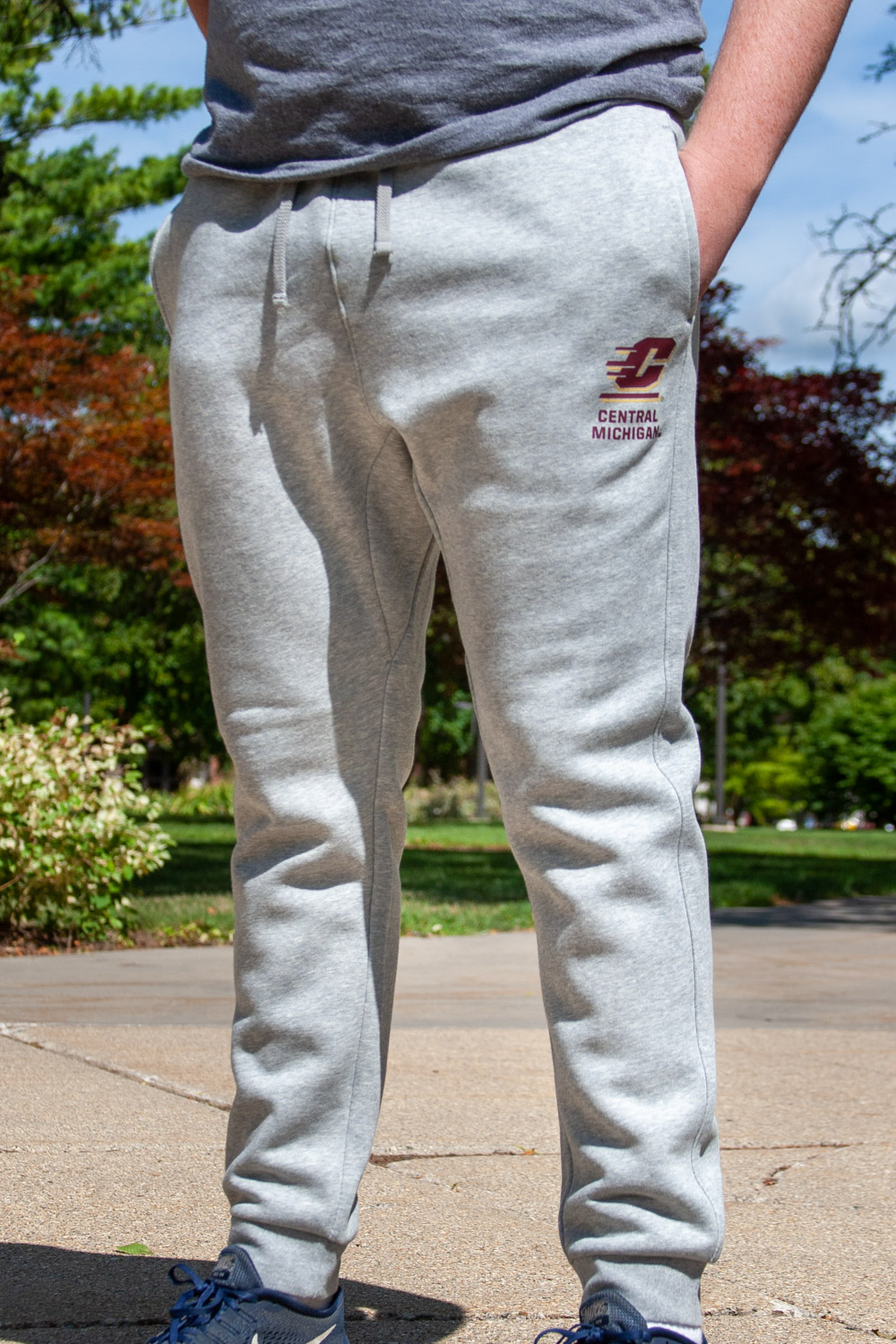Central Michigan Heather Gray Club Fleece Jogger<br><small>NIKE</small> (SKU 5043108341)