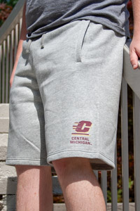 Central Michigan Heather Gray Club Fleece Short<br><small>NIKE</small>