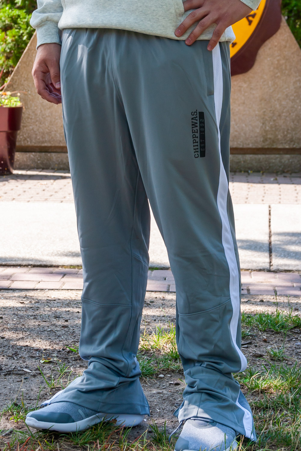 Chippewas Est. 1892 Steel Gray Track Pant<br><small>UNDER ARMOUR</small> (SKU 5043150256)