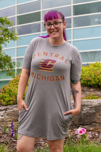 Central Michigan Heather Gray Women's Jersey Mini Dress<br><small>UNDER ARMOUR</small>