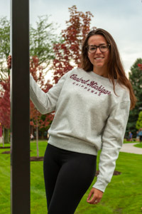 Central Michigan Chippewas Silver Women's Sweatshirt<br><small>UNDER ARMOUR</small>