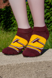 Maroon Flying C Ankle Socks