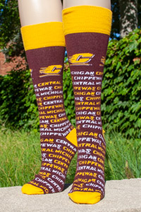 Maroon Repeat Central Michigan Chippewas Tube Socks