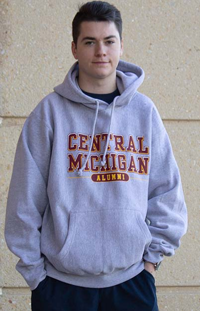 Graphite Central Michigan Alumni Hoodie