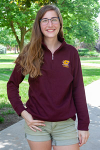 Maroon Flying C Alumni Ladies Knit 1/4 Zip