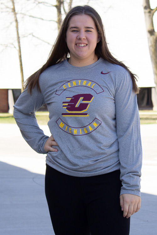 Central Michigan Heather Gray Long Sleeve T-Shirt<br><small>NIKE</small>